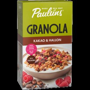 Granola kakao och hallon 450g