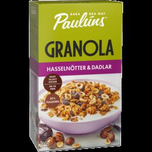 Granola hasselnöt och dadlar 450g